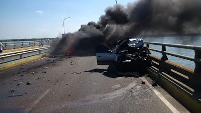 Mujer quemada en choque sobre El Lago falleció por falta de cuidados