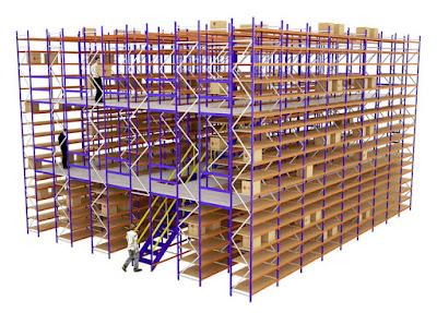 Изготовление и монтаж мезонинных стеллажей