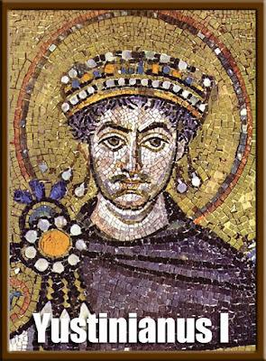 Gambar Yustinianus di Basilika San Vitale, Ravenna