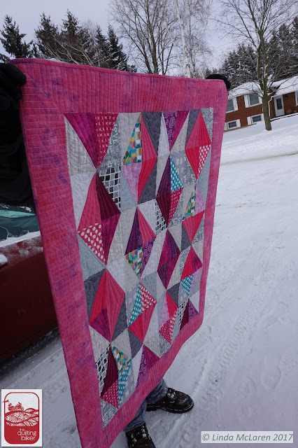 Baby Gems quilt phot side view 2