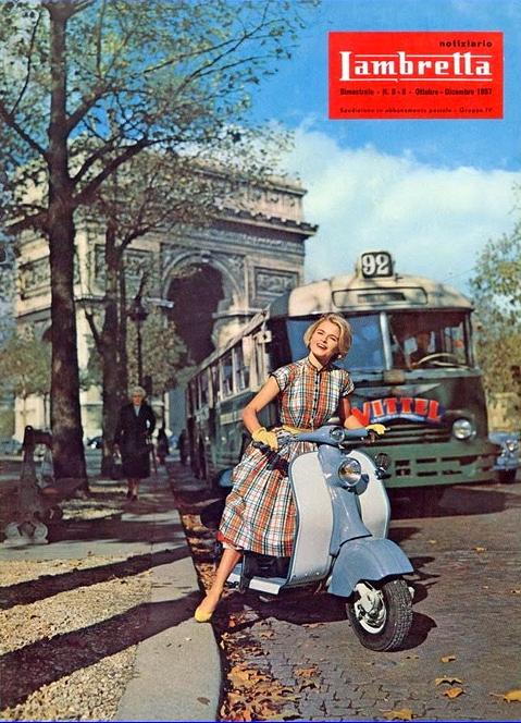 transpress nz: 1957 Lambretta and Paris Chausson bus