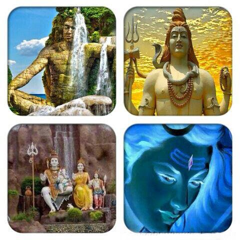 mix image of shiv ji