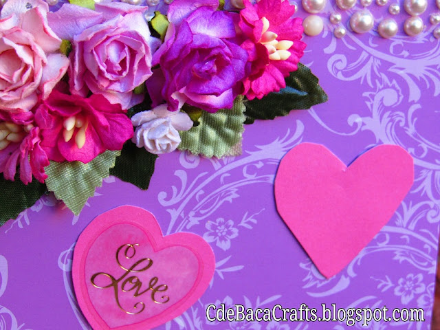 Handmade ideas of Valentine's Day Cards by CdeBaca Crafts.