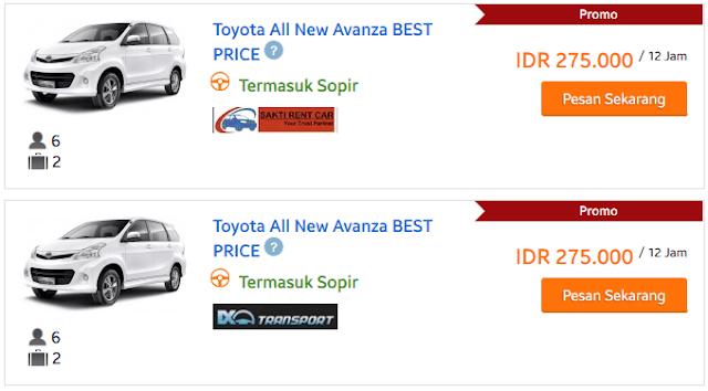 Harga sewa mobil jakarta timur murah terjangkau