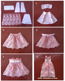 Tutorial cara membuat baju dari kain perca untuk boneka