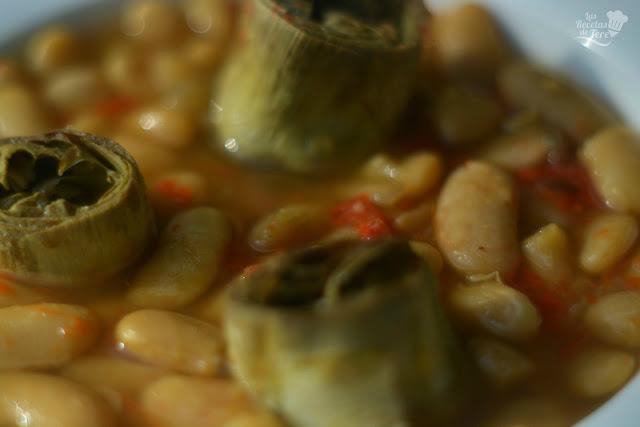 Fabes asturianas con alcachofas tererecetas 01