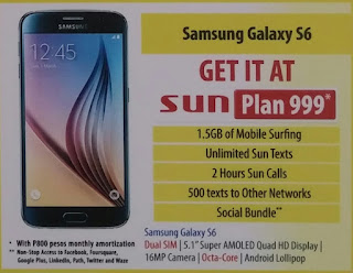 Samsung Galaxy S6 Now Available At Sun Plan 999