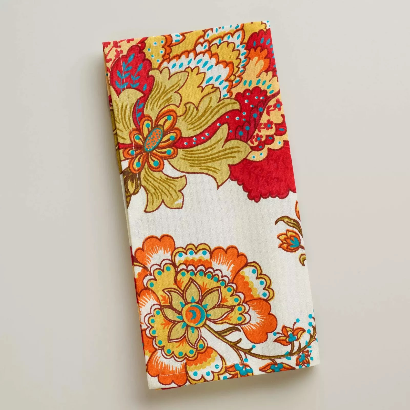Blog post referencing Kavita floral cloth napkins from World Market