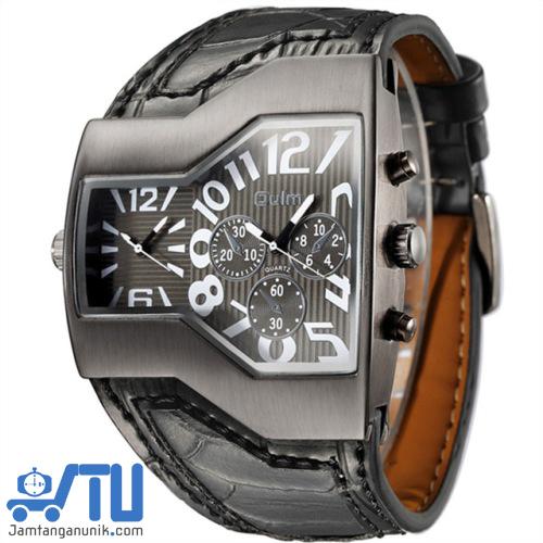 jam tangan unik OULM steampunk 1220 J10 double time