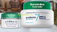 Logo Diventa tester Somatoline Cosmetic Lift Effect 4D Antirughe Filler e Snellente 7 Notti Gel Fresco