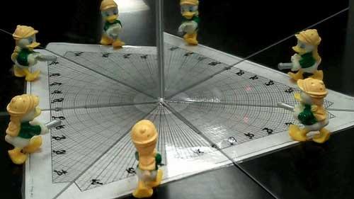 Jumlah Bayangan benda pada 2 Cermin Datar yang disusun Membentuk Sudut