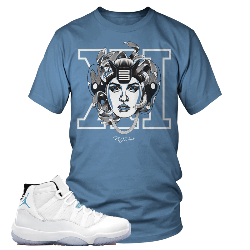 dcb44c669e1d Here is our classic Medusa Sneakerhead design to match your Air Jordan  Retro 11 Legend Blue sneakers!
