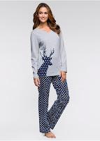 Costum de pijama cu imprimeu şic