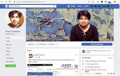 Anshul Saxena Facebook