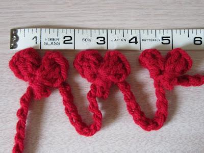 crochet, gauge, hearts