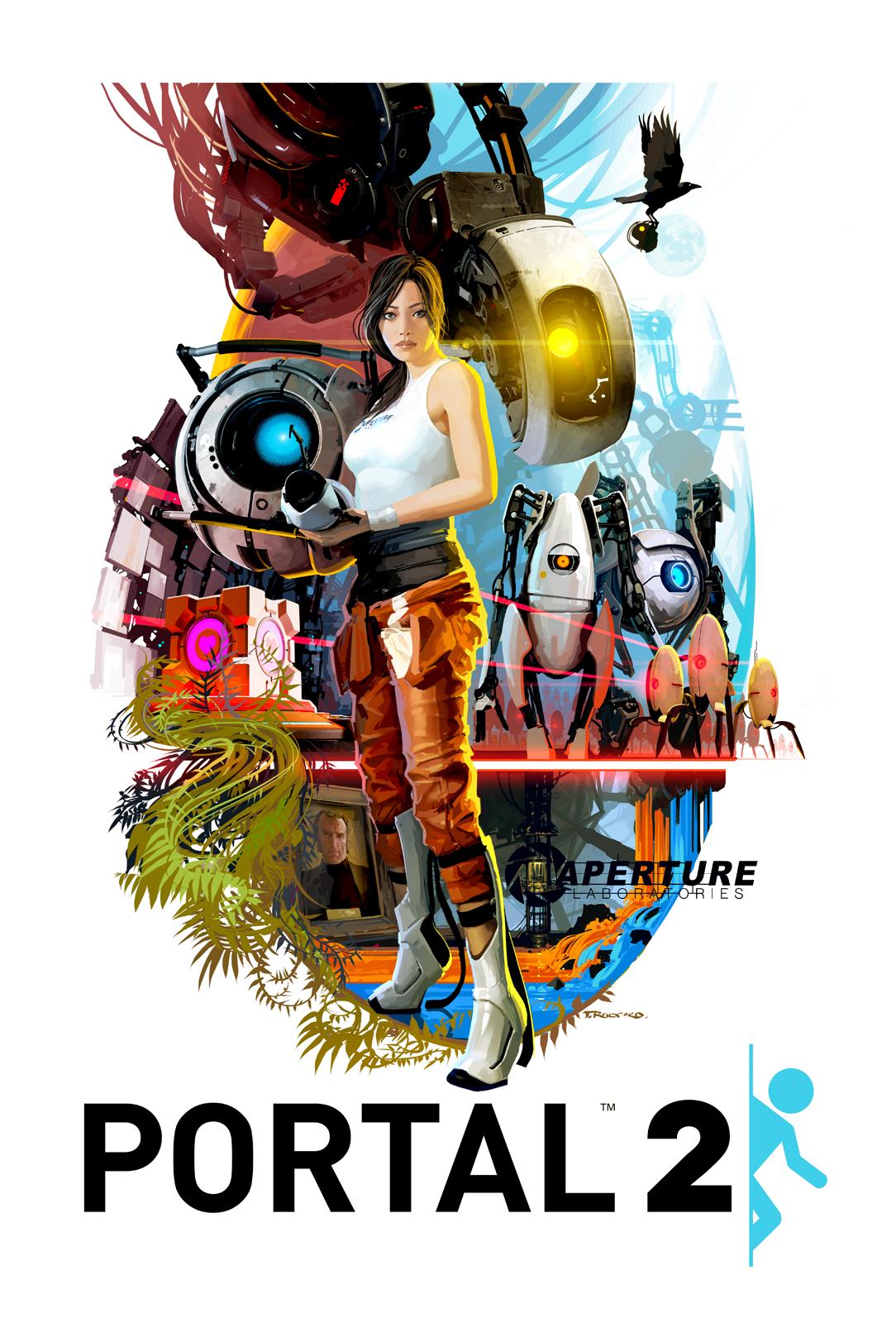 Lovely Tristan Reidford Art: Portal2 70s style movie poster! XO22