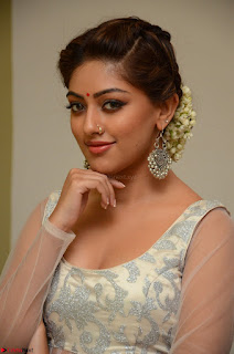 Anu Emmanuel in a Transparent White Choli Cream Ghagra Stunning Pics 099.JPG