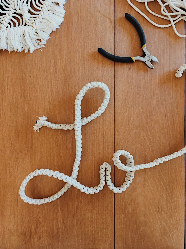 Diy mot en macrame we are family - Mot commencant par ch ...