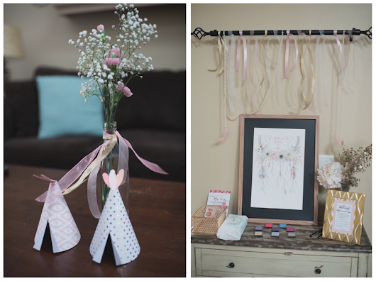 TWIN BABY SHOWER WITH BOHO DETAILS