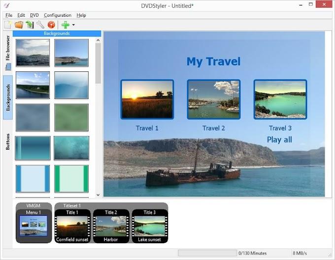 DVDStyler - Φτιάξτε επαγγελματικού επιπέδου DVD's