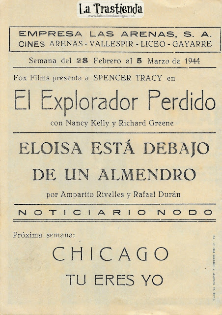El Explorador Perdido - Programa de Cine - Spencer Tracy - Nancy Kelly - Richard Greene