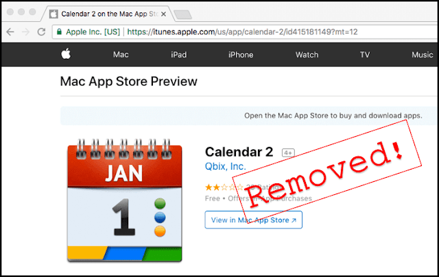 Mac Calendar App Which Mines Cryptocurrency Removed From Apple Store
