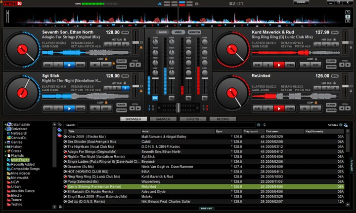 Virtual DJ Pro 8 Screenshot