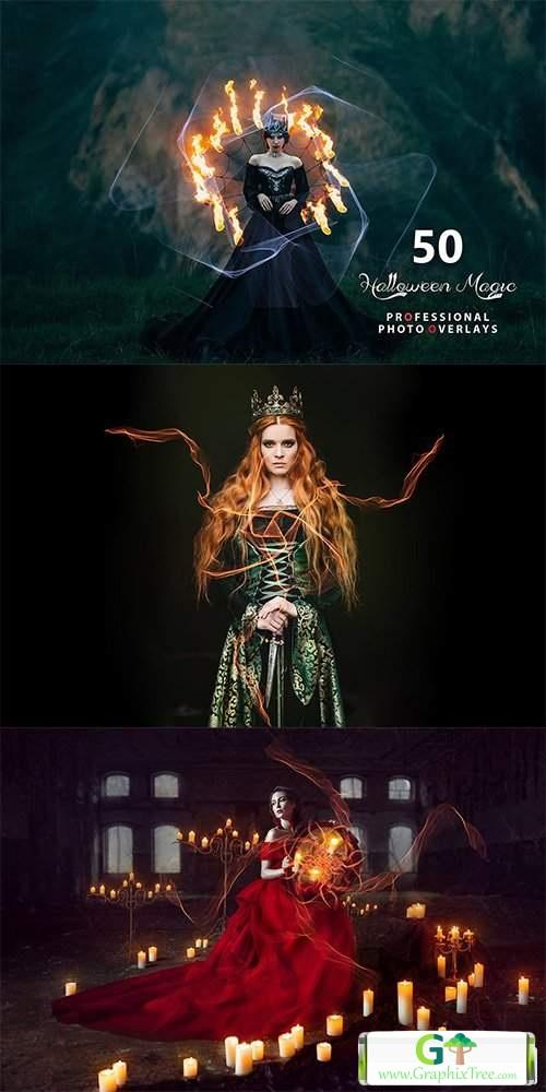 50 Halloween Magic Photo Overlays