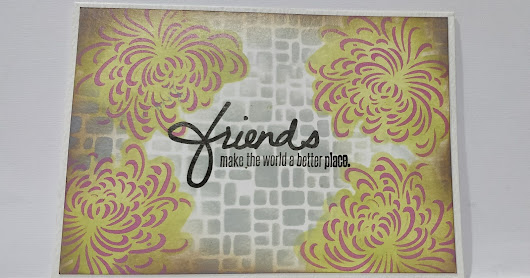 Double layer stencil cards using icraft stencil.
