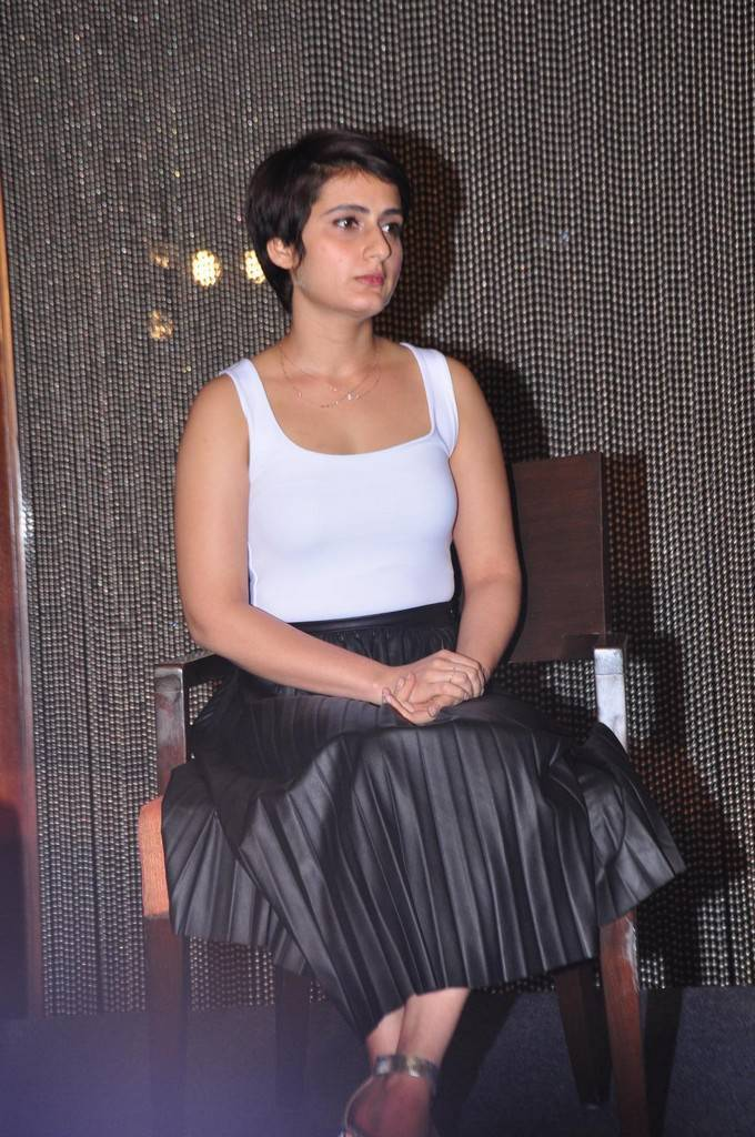 Actress Fatima Sana In White Top At Movie Press Meet