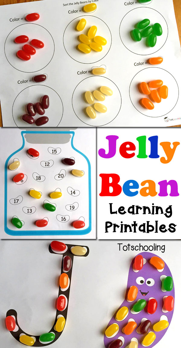 FREE printable learning activities to be used with Jelly Beans. Perfect for the Easter season, or any time of the year!