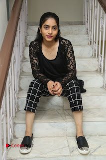 Actress Punarnavi Bhupalam Stills in Black Dress at Pittagoda Press Meet  0124.JPG