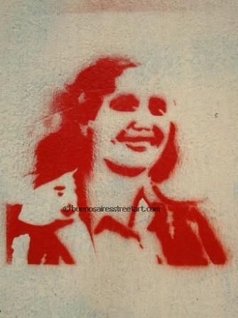 Dont Cry For Me Argentina Eva Pern graffiti  BA Street Art