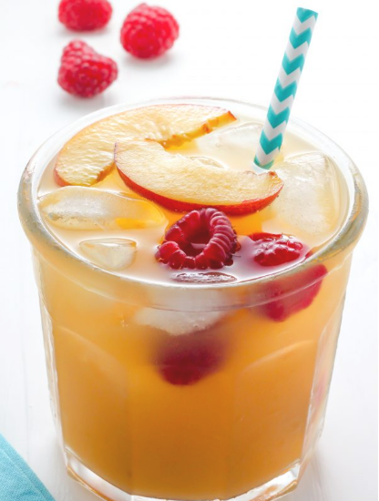 Raspberry Peach Iced Tea Lemonade #lemonade #smoothie