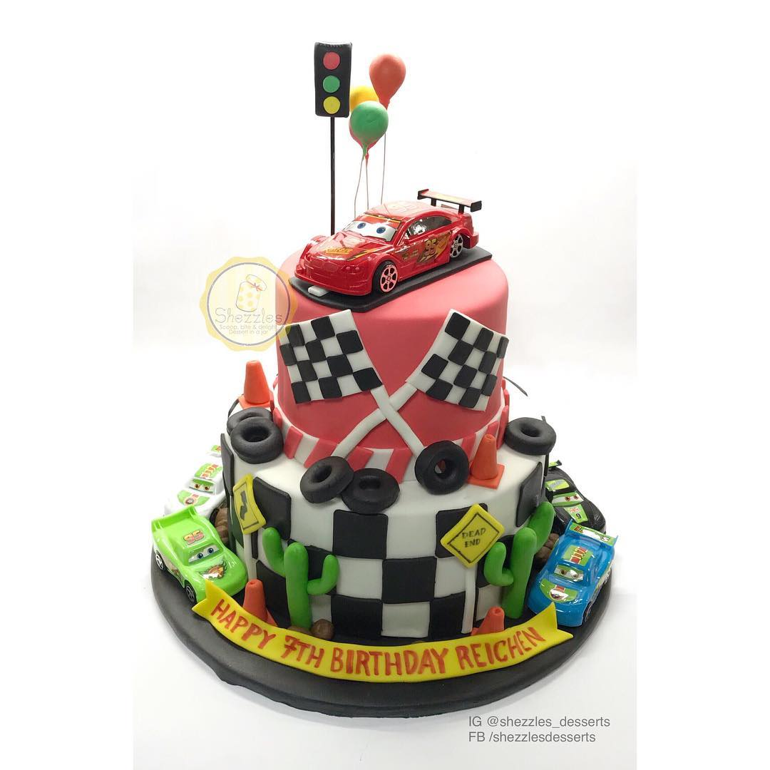 Enjoyable Shezzles Cakes And Pastries Cars Mcqueen Birthday Cake Personalised Birthday Cards Beptaeletsinfo