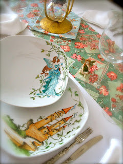 PLATE, FAIRY, HAND PAINTINGS