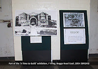Part of the 'A Time to Build' display, Boggo Road Gaol Museum, 2004.