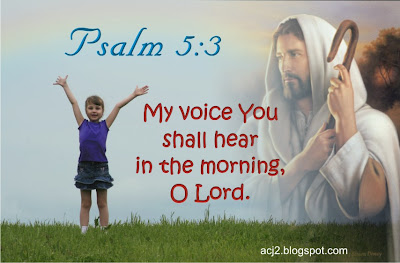 You shall hear my voice