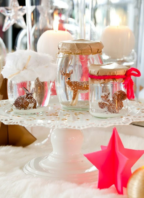 table de noel animaux et diy