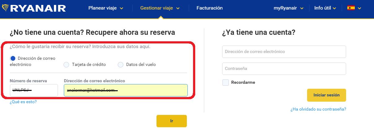 hacer check in ryanair en español