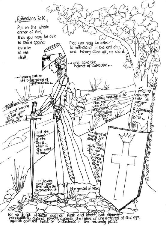 Kinder Days....: Put on the Armor of God....Unit Study