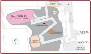 Plano de la Neocueva de Altamira.