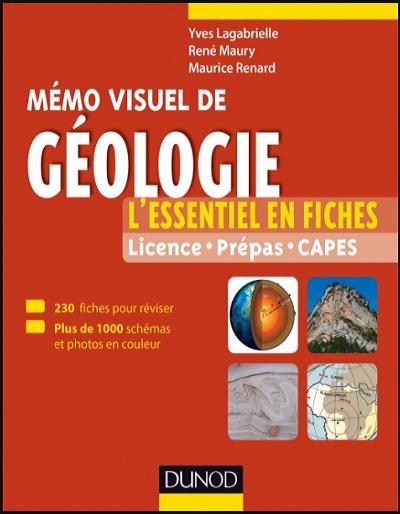 Livre : Mémo visuel de géologie, L'essentiel en fiches et en couleurs - Dunod PDF