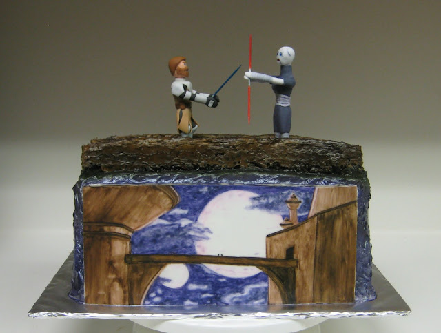 Star Wars: The Clone Wars Themed Cake - Obi-Wan Kenobi and Asajj Ventress Duel 2