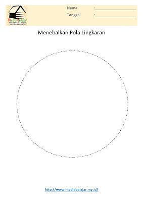 Lembar Kerja Paud Menebalkan Pola Bangun Lingkaran