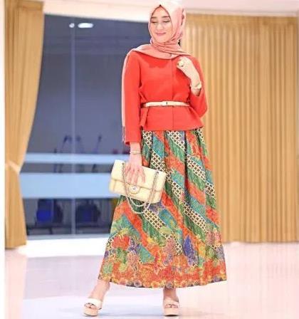 57 Model Gamis Batik Modern 2019 Model Baju Muslim Terbaru 2019