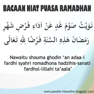 bacaan niat dan doa puasa ramadhan arab dan latin