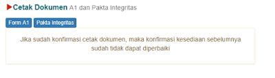 form a1 dan pakta integritas