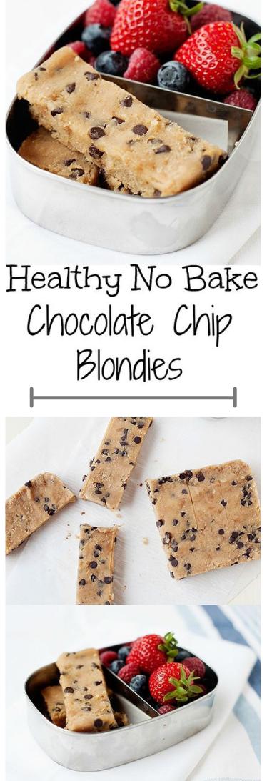 CHOCOLATE CHIP BLONDIES #bake
