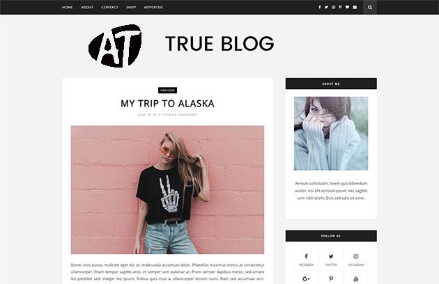 TrueBlog - Best blogging Blogger Template
